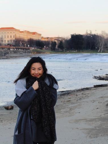 """""""Fa molto freddo"""" at Spaggia Arno"""