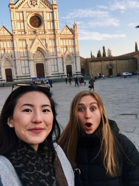 Piazza Santa Croce with Natalie